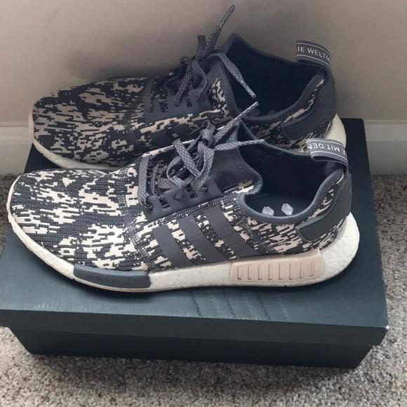 2106ff1484fd adidas Other - Adidas NMD R1 Shoes Camo Grey Green Beige